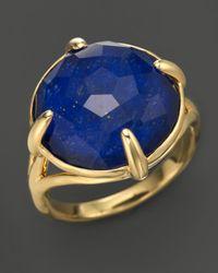 Ippolita Metallic Ippolita 18k Gold Gelato Stone Ring in Lapis Doublet