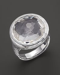 Ippolita | Metallic Sterling Silver Rock Candy Lollipop Ring In Clear Quartz | Lyst