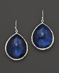"Ippolita - Blue ""Midnight Wonderland"" Sterling Silver Rock Candy Large Single Teardrop Earrings In Midnight - Lyst"