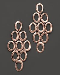Ippolita | Pink Rosé Open Oval Cascade Earrings | Lyst