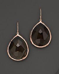 Ippolita - Black Rosé Rock Candy® Large Teardrop Earrings In Smoky Quartz - Lyst