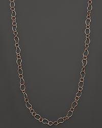 Ippolita Metallic Ippolita Rosé Smooth Bean Link Necklace 40