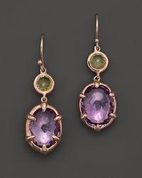 Ippolita Purple Ippolita Rosé Sugar Kissed 2stone Drop Earrings in Orchid