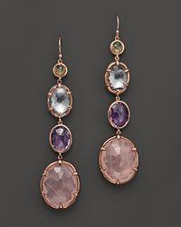 Ippolita - Metallic Rosé Sugar Kissed 4-Stone Drop Earrings In Orchid - Lyst