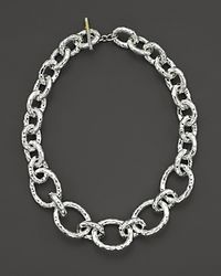 "Ippolita | Metallic Sterling Silver ""bastille"" Chain Necklace 