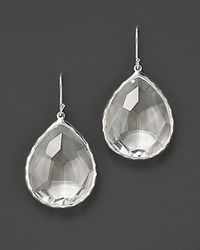 Ippolita | Metallic Sterling Silver Rock Candy Large Teardrop Earrings In Clear Quartz | Lyst