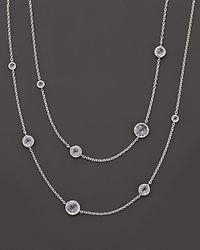 Ippolita - Metallic Sterling Silver Rock Candy® Lollipop Necklace In Clear Quartz - Lyst