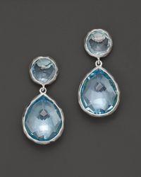 Ippolita | Metallic Sterling Silver Rock Candy® Snowman Post Earrings In Blue Topaz | Lyst