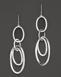 Ippolita | Metallic Sterling Silver Scultura Multi Oval Link Earrings | Lyst