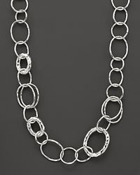 "Ippolita | Metallic Sterling Silver Short Necklace With ""bastille"" Links 