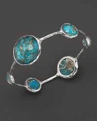 Ippolita Metallic Sterling Silver Wonderland Lollipop Bangle In Bronze Turquoise