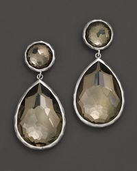 Ippolita - Metallic Sterling Silver Wonderland Teardrop Snowman Post Earrings In Pyrite - Lyst
