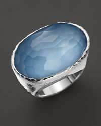 Ippolita - Metallic Ippolita Sterling Silver Wonderland Oval Ring in Sky Doublet - Lyst