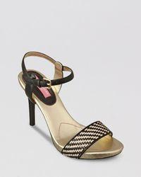 Isaac Mizrahi New York Black Sandals Belle High Heel