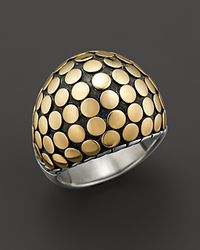 John Hardy Metallic Dot Gold And Sterling Silver Dome Ring