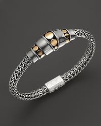 John Hardy - Metallic Dot Sterling Silver & 18k Gold Station Bracelet - Lyst