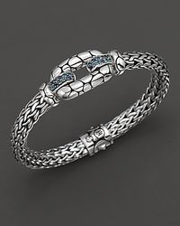 "John Hardy Metallic ""Kali Lava"" Lagoon Station Bracelet With Swiss Blue Topaz And Iolite"