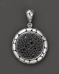 "John Hardy Metallic ""Kali Lavafire"" Medium Round Enhancer With Black Sapphires"