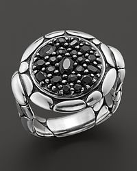 "John Hardy | ""Kali Lavafire"" Small Round Ring With Black Sapphires 