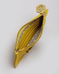 Jonathan Adler Yellow Coin Purse Key Leather