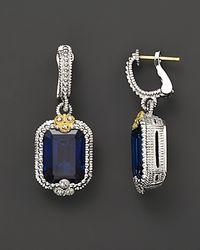 Judith Ripka Metallic Estate Emerald Cut Earrings