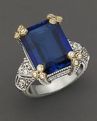 Judith Ripka | Metallic Estate Emerald Cut Stone Ring | Lyst