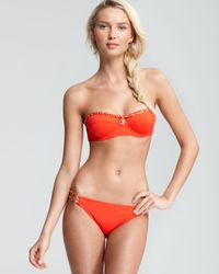 Juicy Couture Orange Gold Link Classic Bandeau Bikini Top