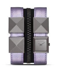 Karl Lagerfeld - Purple Karl Zip Watch 175mm - Lyst