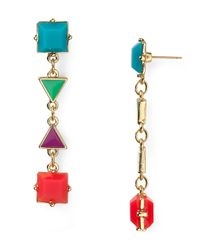 kate spade new york | Multicolor 'trellis Blooms' Drop Earrings | Lyst
