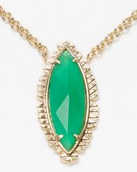 Kendra Scott Green Luna Pendant Necklace 18