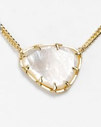 Kendra Scott - White Merritt Reversible Pendant Necklace 18 - Lyst