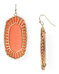 Kendra Scott | Orange Delilah Earrings | Lyst