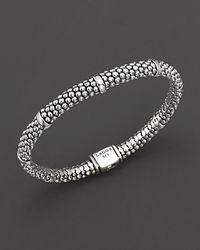 Lagos - Metallic Signature Sterling Silver Petite Caviar Bracelet - Lyst
