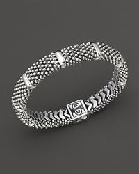 Lagos Metallic Diamond Lux Sterling Silver Caviar™ Beaded Rope Bracelet