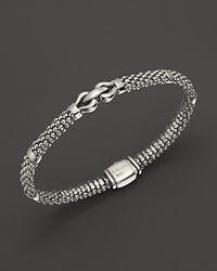 Lagos - Metallic 18k Gold And Sterling Silver Square Diamond Bracelet - Lyst