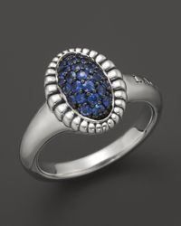 Lagos | Metallic Muse Sterling Silver Small Fluted Ring with Blue Sapphire | Lyst