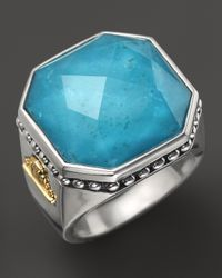 Lagos | Blue Sterling Silver Turquoise Color Rocks Ring | Lyst