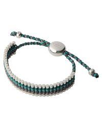 Links of London - Green Glitter and Grey Friendship Bracelet - Lyst