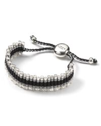 Links of London Black Links Of London Grey Zigzag Friendship Bracelet
