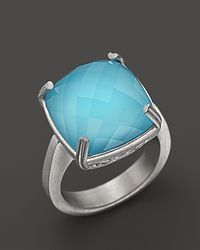 Lisa Nik | Metallic Sterling Silver Ocean Cushion Ring | Lyst