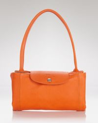 Longchamp Red Satchel - Le Pliage Cuir Medium