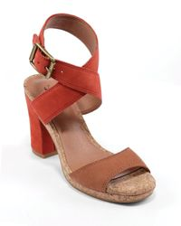 Lucky Brand Brown Platform Sandals Sundd City