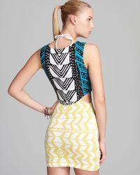 Mara Hoffman Multicolor Luau Cut Out Mini Dress Swimsuit Cover Up
