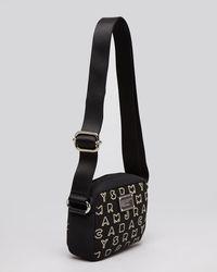 Marc By Marc Jacobs Black Mini Bag Dreamy Logo Neoprene Metallic Camera
