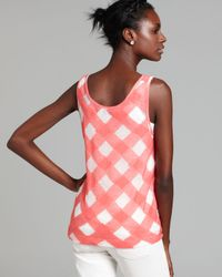 Marc By Marc Jacobs Pink Top Gauze Check Knit