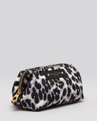Marc By Marc Jacobs Gray Cosmetic Case Preppy Nylon Framed Big Blitz