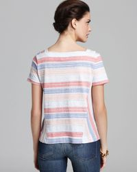 Marc By Marc Jacobs Red Top Stretch Stripe Jersey