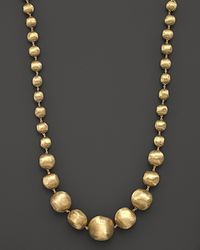 "Marco Bicego - 18k Yellow Gold Africa Graduated Bead Necklace, 18"" - Lyst"