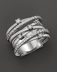 Marco Bicego - Metallic Goa 18k White Gold And Diamond Ring, 0.4 Ct. - Lyst