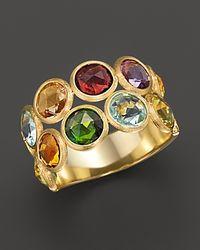 Marco Bicego | Yellow Jaipur 2 Row Multi-stone Ring | Lyst